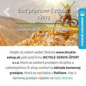 bicykle-eshop.sk - mobilná verzia