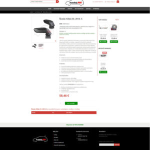 autodielyrs.sk - stránka produktu