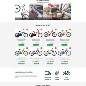 bicykle-eshop.sk - úvodná stránka