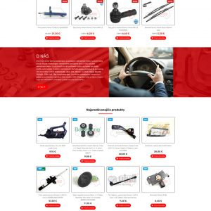 autodielyrs.sk - redizajn domovská stránka