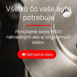 autodielyrs.sk - redizajn mobilná verzia