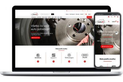AutodielyRS webová stránka