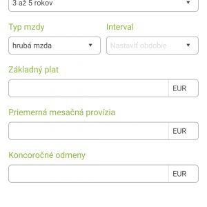 platy.sk - úprava profilu