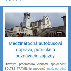 soltestravel.sk - mobilná verzia