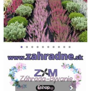 zahradne.sk - mobilná verzia