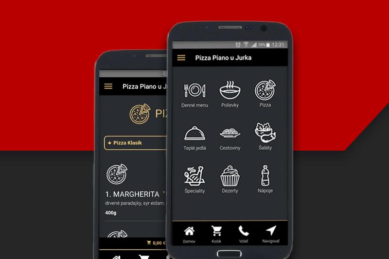 Pizza Piano u Jurka aplikácia