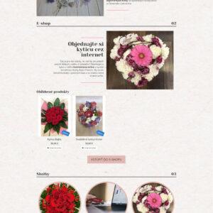 bajkaflowers.sk - domovská stránka