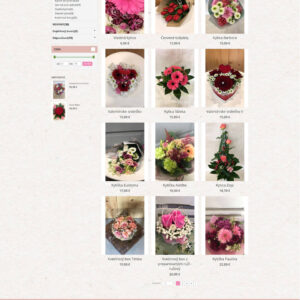 bajkaflowers.sk - stránka kategórie