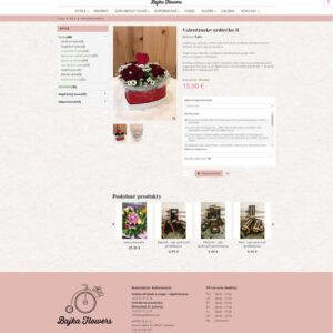 bajkaflowers.sk - stránka produktu