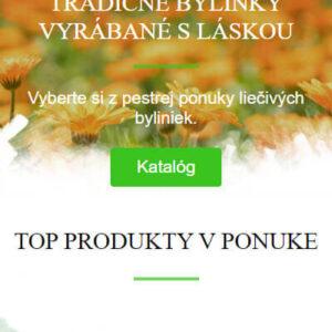 liecive-caje.sk - mobilná verzia