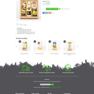 liecive-caje.sk - stránka produktu