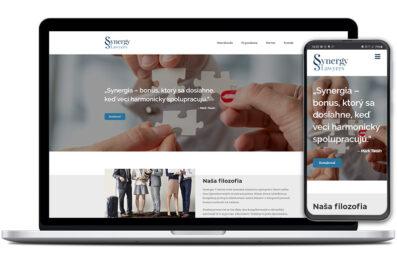 Synergy Lawyers webová stránka