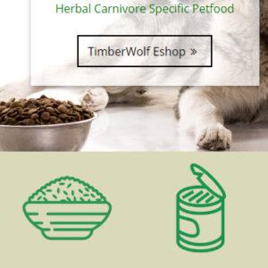 timberwolfpetfood.eu - mobilná verzia
