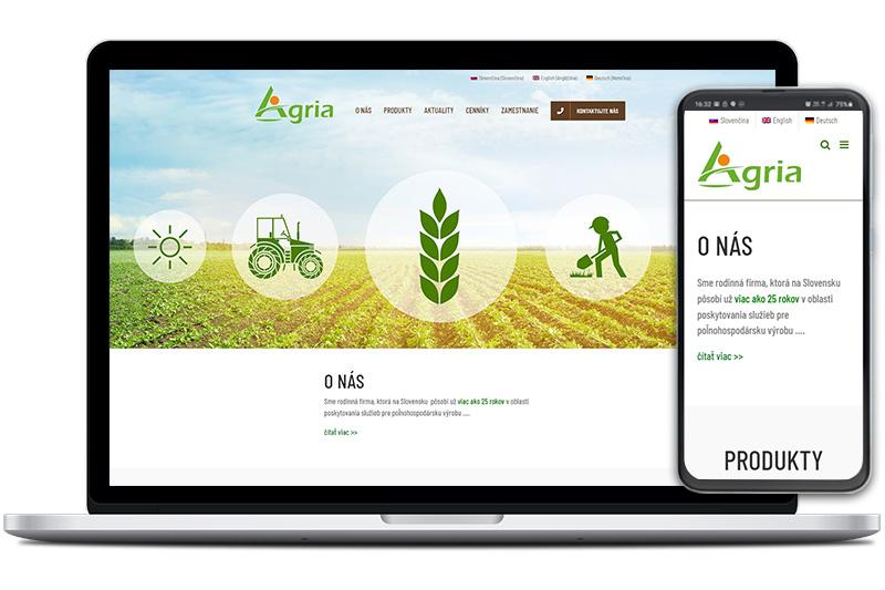 Agria-seeds webová stránka