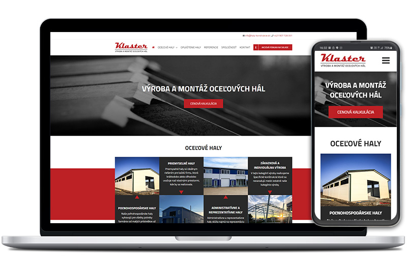 Klaster webová stránka
