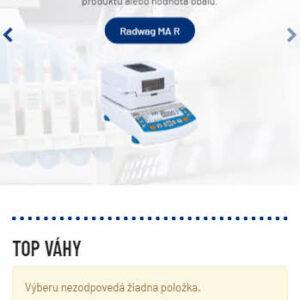 radwag-slovensko.sk - mobilná verzia