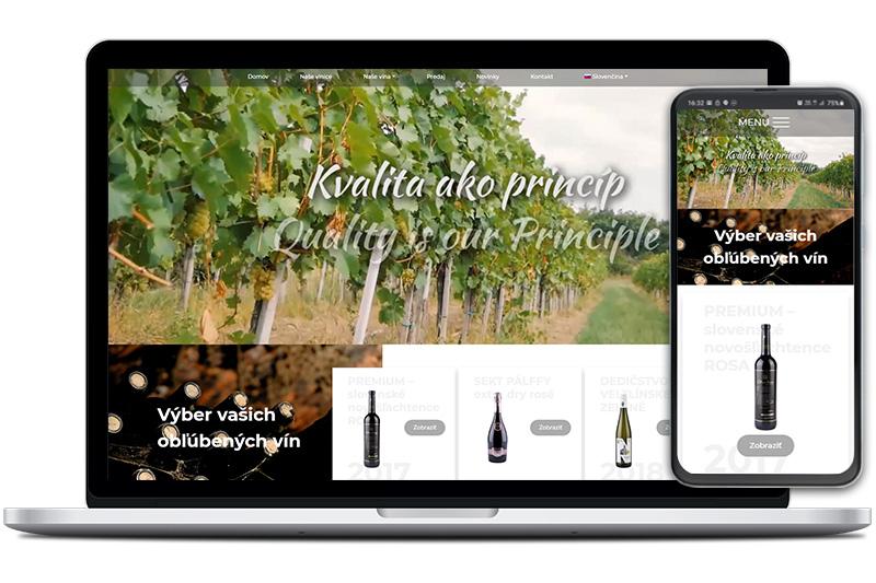 Víno Nitra webová stránka