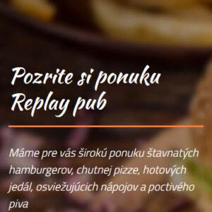 replaypubrv.sk - mobilná verzia