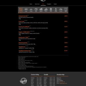 replaypubrv.sk - stránka menu