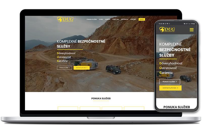 Dug webová stránka
