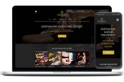 Hostess services webová stránka