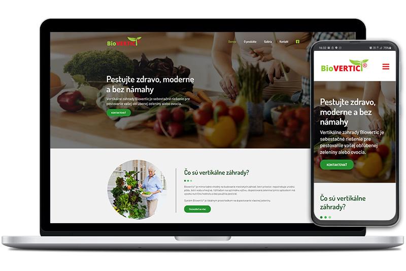 Biovertic webová stránka