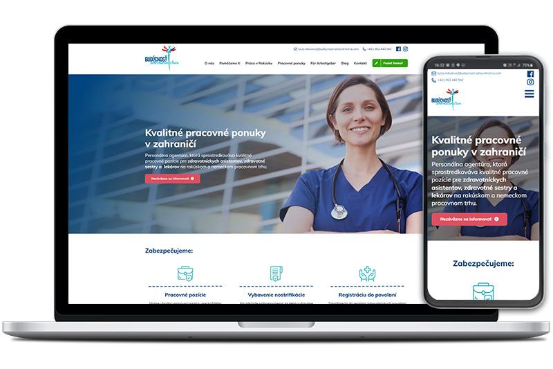 Budúcnosť zdravotníctva webová stránka