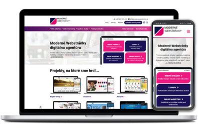 Moderné webstránky spustili novú webstránku na mieru