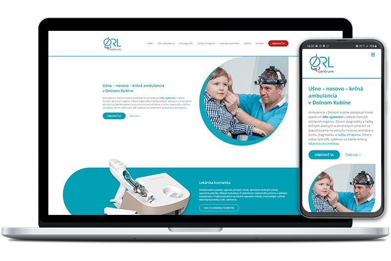 ORL vyšetrenie webová stránka