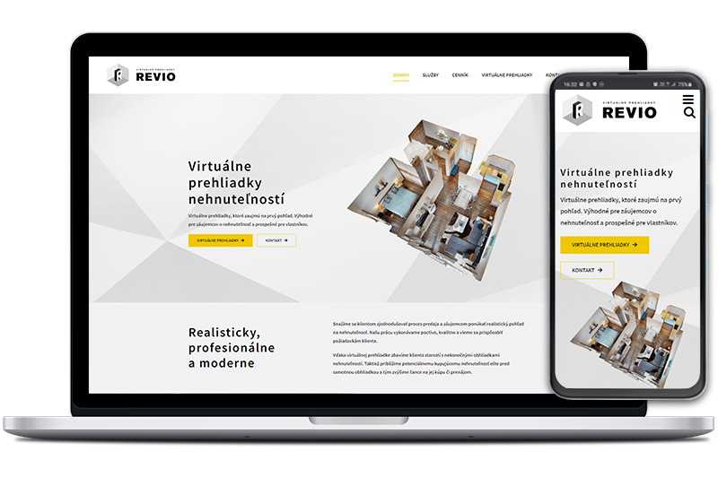 Revio webová stránka