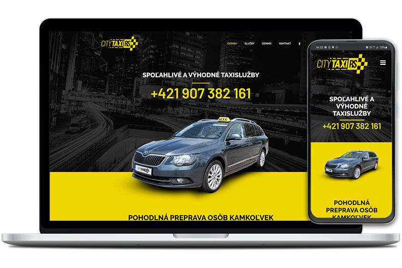 CityTaxiRS webová stránka