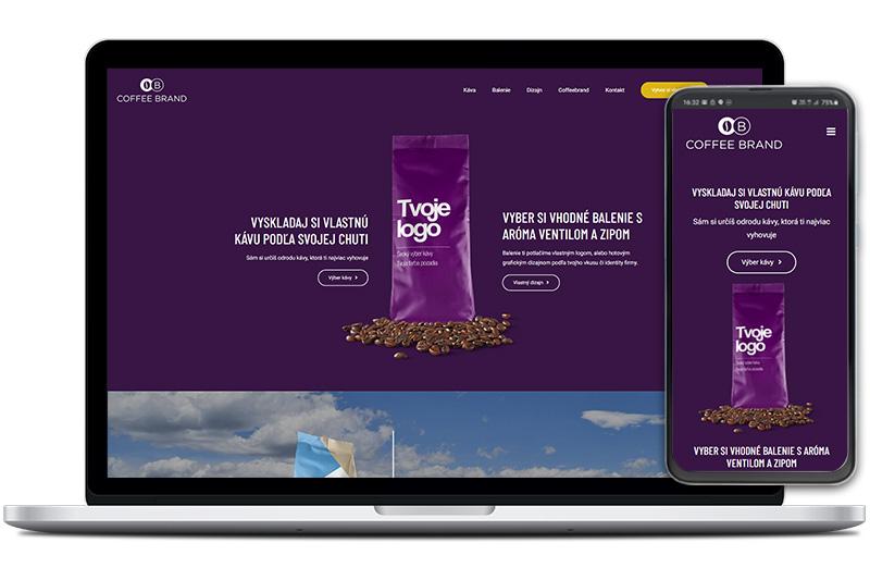 Coffee Brand webová stránka