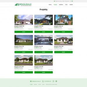 stavba-domu.sk - stránka projektov