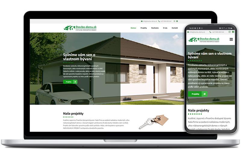 Stavba domu webová stránka