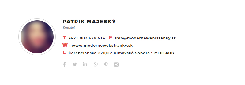 Emailový podpis Moderné Webstránky 08