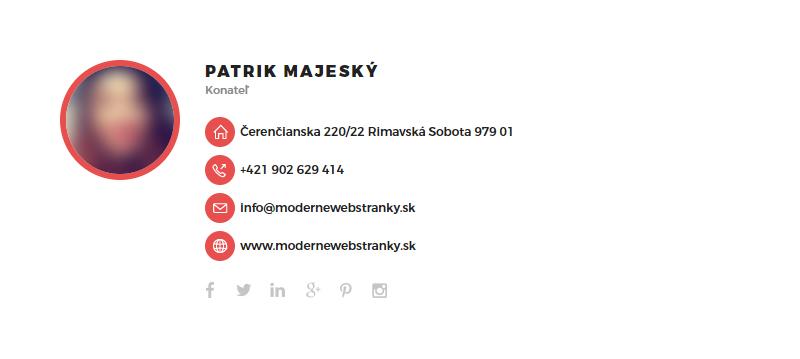 Emailový podpis Moderné Webstránky 09
