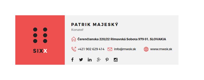Emailový podpis Moderné Webstránky 12