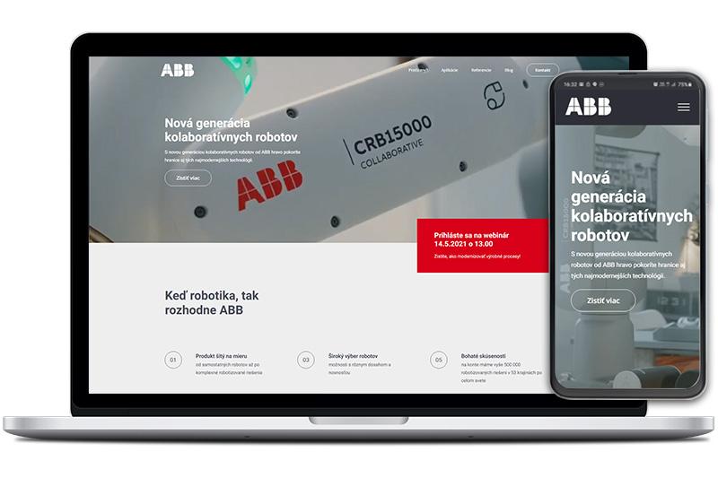 ABB Robotika webová stránka