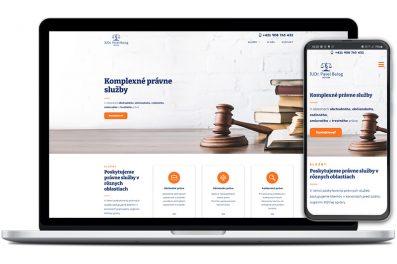Advokát Balog webová stránka
