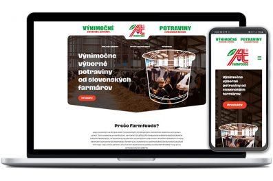 Farmfoods webová stránka