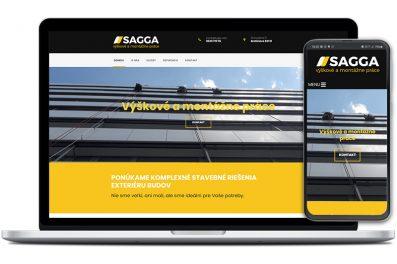 Sagga webová stránka